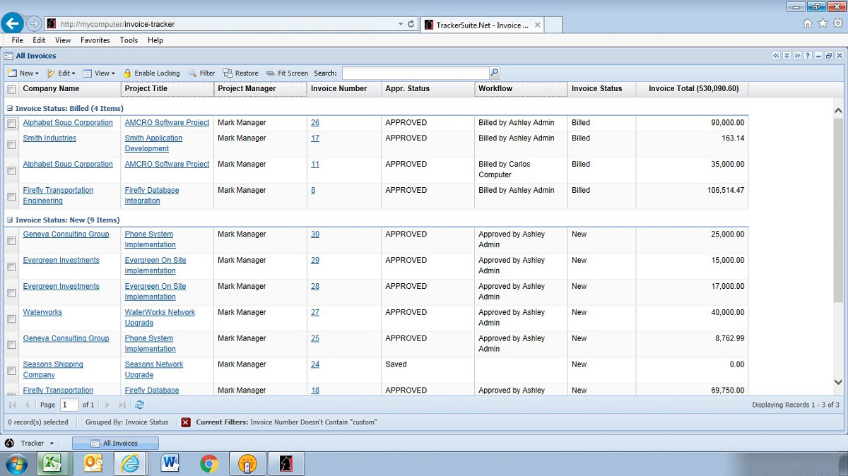 web based invoicing software