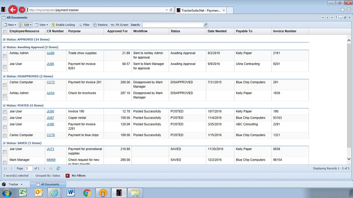 Check Request Software for Accounts Payable | Payment Tracker